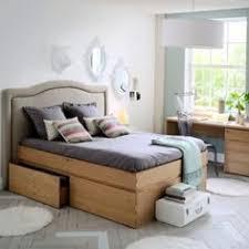chambre adulte fly lit plateforme tête de lit tiroirs 2 places newark la redoute