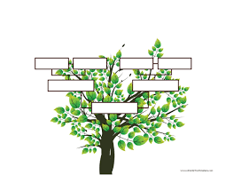blank family tree template free instant