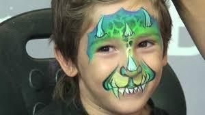 cool face painting for halloween dragontales u0027 face painting design youtube