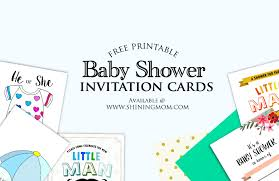 all free baby shower invitations to print