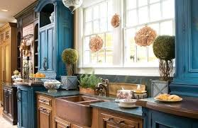 pictures of antiqued kitchen cabinets country blue kitchen cabinet image of farmhouse distressed kitchen