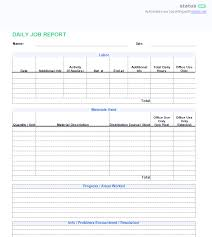 report template 3 best exles daily report template free templates