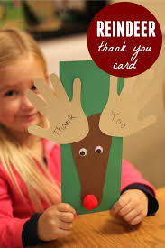 toddler approved handprint and footprint reindeer thank you cards