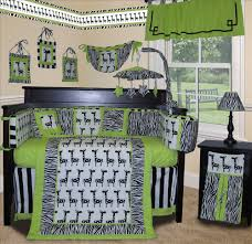 baby boutique lime zebra 13 pcs crib nursery bedding set ebay