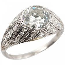 1 29 carat diamond and platinum art deco engagement ring