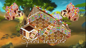 animal jam speed decorating gingerbread house den youtube