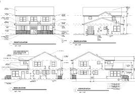 floor plan and elevation drawings first floor plan second elevations back top home building plans