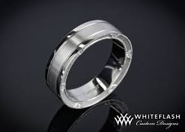 custom wedding bands mens wedding bands custom custom wedding rings set unbox it 3d