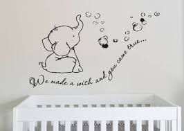 adorable we made a wish baby elephant wall decal sticker for nursery s we made a wish baby elephant wall decal sticker wall decal wall sticker