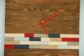 reclaimed wood wall clock modern wood clock with art accent barn
