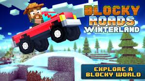 blocky roads version apk blocky roads winterland on the app store