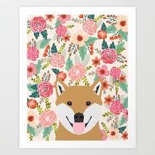 Hipster Dog Meme - shiba inu florals spring summer bright girly hipster dog meme shiba