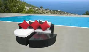 divano giardino divano in rattan penisola arredo giardino esterno tavolo pouf