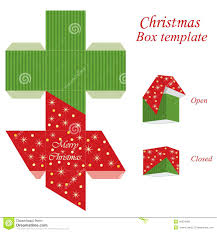 christmas gift boxes with lids box template stock vector image