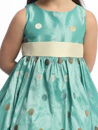 blue flower dress polka dot embroidered taffeta