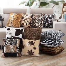 Accent Pillows For Sofa Animal Print Throw Pillows Ebay