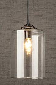 White Drum Pendant Lighting Light Cylinder Double Glass Black