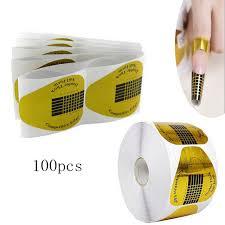 online shop 100pcs lot golden nail art tips nail guide sticker