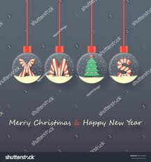 xmas letters christmas tree snow globes stock vector 522199549