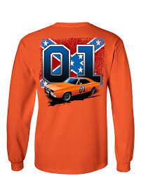 Nashville Flag Youth Cooter U0027s 01 General Lee With Flag Long Sleeve T Shirt
