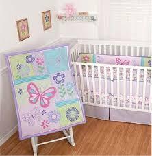 girls butterfly bedding amazon com sumersault baby crib bedding set 4 piece