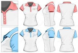 women u0027s polo shirt design template front back and side view