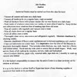Janitorial Resume Examples by Janitor Job Description Template For Word Duties And