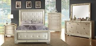 coralayne old world silver wood glass fabric master bedroom set