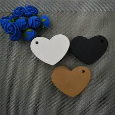 heart shaped writing paper online get cheap hang heart aliexpress com alibaba group 100pcs heart shape mini writing card scallop head label luggage kraft paper tags wedding note blank price hang tag kraft gift