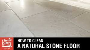 Natural Tile Floor Cleaner Recipe How To Clean A Natural Stone Floor Youtube