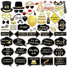 40th birthday decorations losuya 40th birthday party photo booth props 36pcs diy