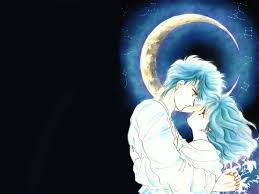 wallpaper anime lovers lovers on the background of the moon wallpapers anime animejpg ru