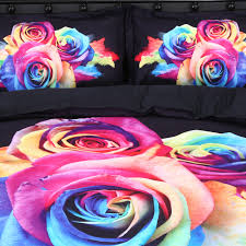 colorful roses 3d colorful roses printed cotton 4 bedding sets duvet covers