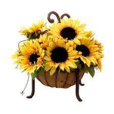 sunflower centerpiece sunflower artificial flowers you ll wayfair