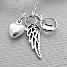 handmade angel necklace images Angel wing necklace memorial jewelry memorial jpg
