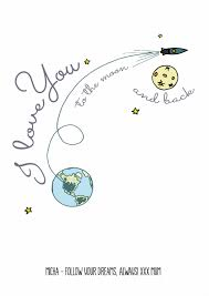 i we you to the moon and back personalised poster or canvas