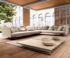 outdoor sectional sofa sabi by paola lenti