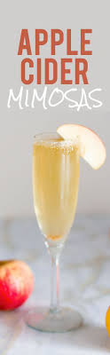 two ingredient apple cider mimosas apple cider mimosa apple cider