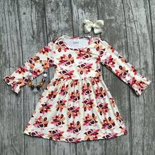 Thanksgiving Dress Baby Baby Thanksgiving Dress Baby Fall Milk Silk Dress