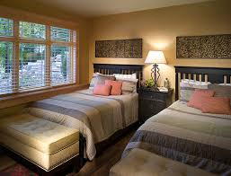 bedroom storage bench Bedroom Transitional with above bed decor