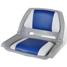 siège de bateau pliable ergonomique avec coussin étanche bleu et
