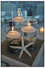 Beach Centerpieces For Wedding Reception by Center Piece Option For Tables With Your Flower Colors