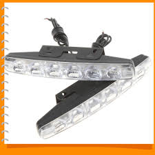 security led lights car 2pcs 12v 6 x leds car daytime running light drl waterproof