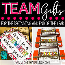 team gifts for the beginning of the year and end of the year one