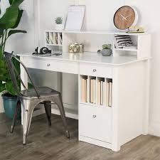 White Desk With Hutch Best 25 Office Desk With Hutch Ideas On Pinterest Desk With
