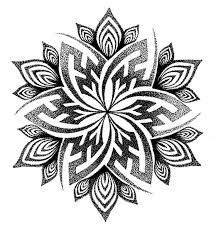 drawn tattoo mandala pencil and in color drawn tattoo mandala