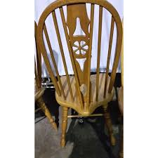 Windsor Dining Room Chairs Windsor Oak Dining Room Chairs Wagon Wheel Set 4 Chairish