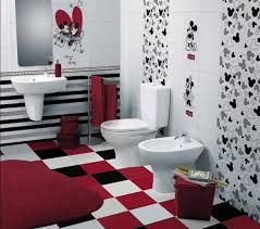 mickey mouse bathroom ideas children s bathroom with disney tiles contemporary bathroom