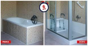 trasformare una doccia in vasca da bagno cambio vasca in doccia da vasca a doccia tecnobad sud