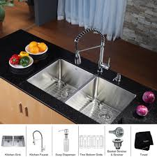 metal kitchen sink and cabinet combo kraus khu102 33 kpf1612 ksd30ch stainless steel chrome
